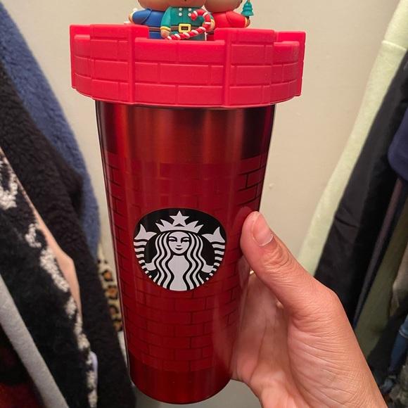 Starbucks 18oz Christmas SS w/ Topper